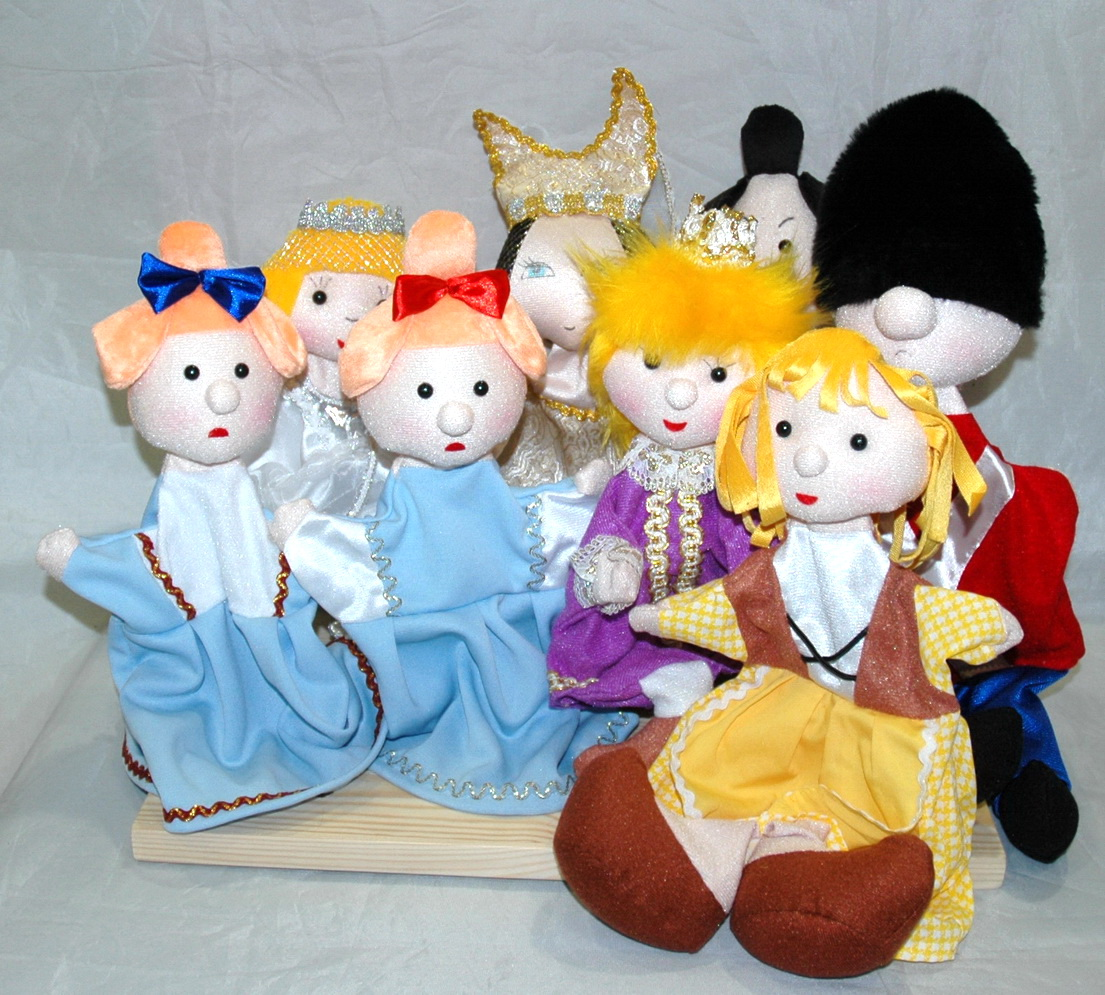 Золушка набор кукол для кукольного театра