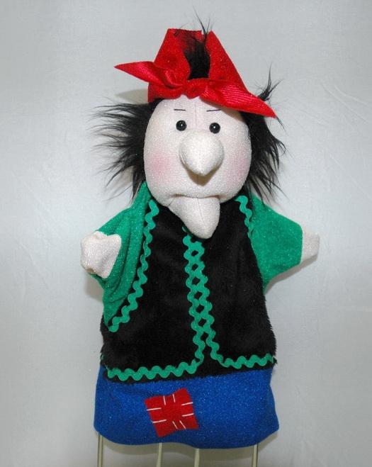 Баба-яга кукла на руку для кукольного театра