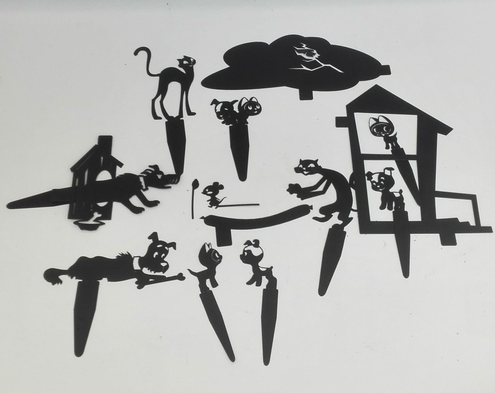 Котенок Гав - набор для театра теней