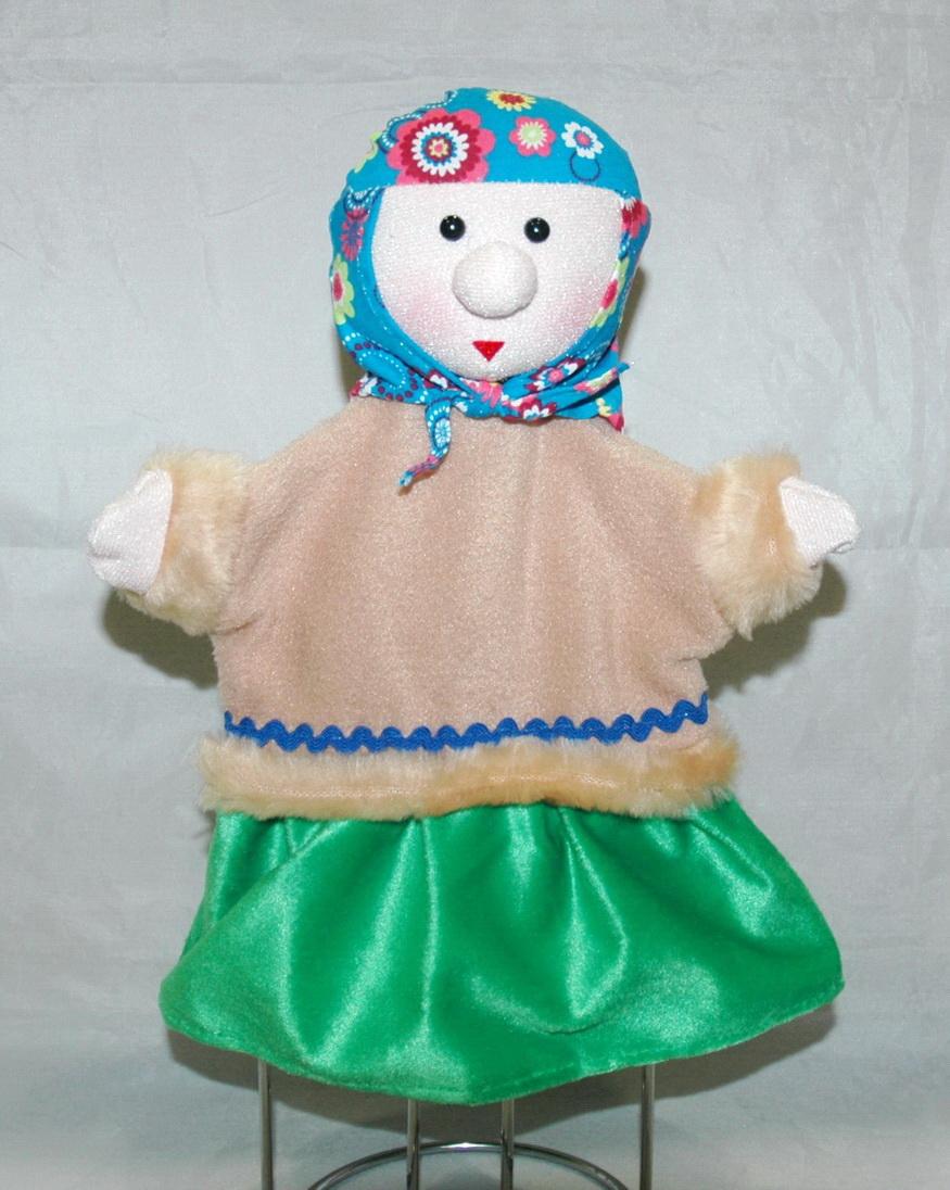 Кукла на руку бабка