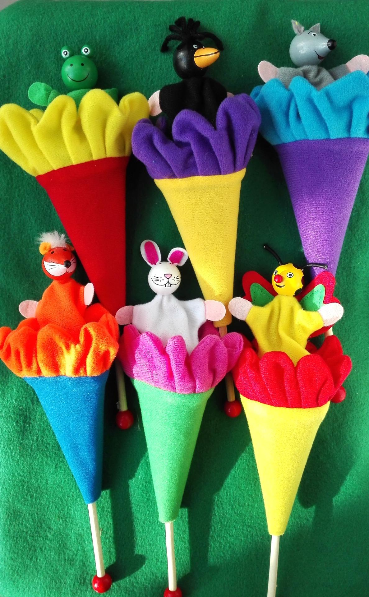 Дергунчик кукла - прятка дергать за палочку высовывается зверушка забава для маленьких детей
