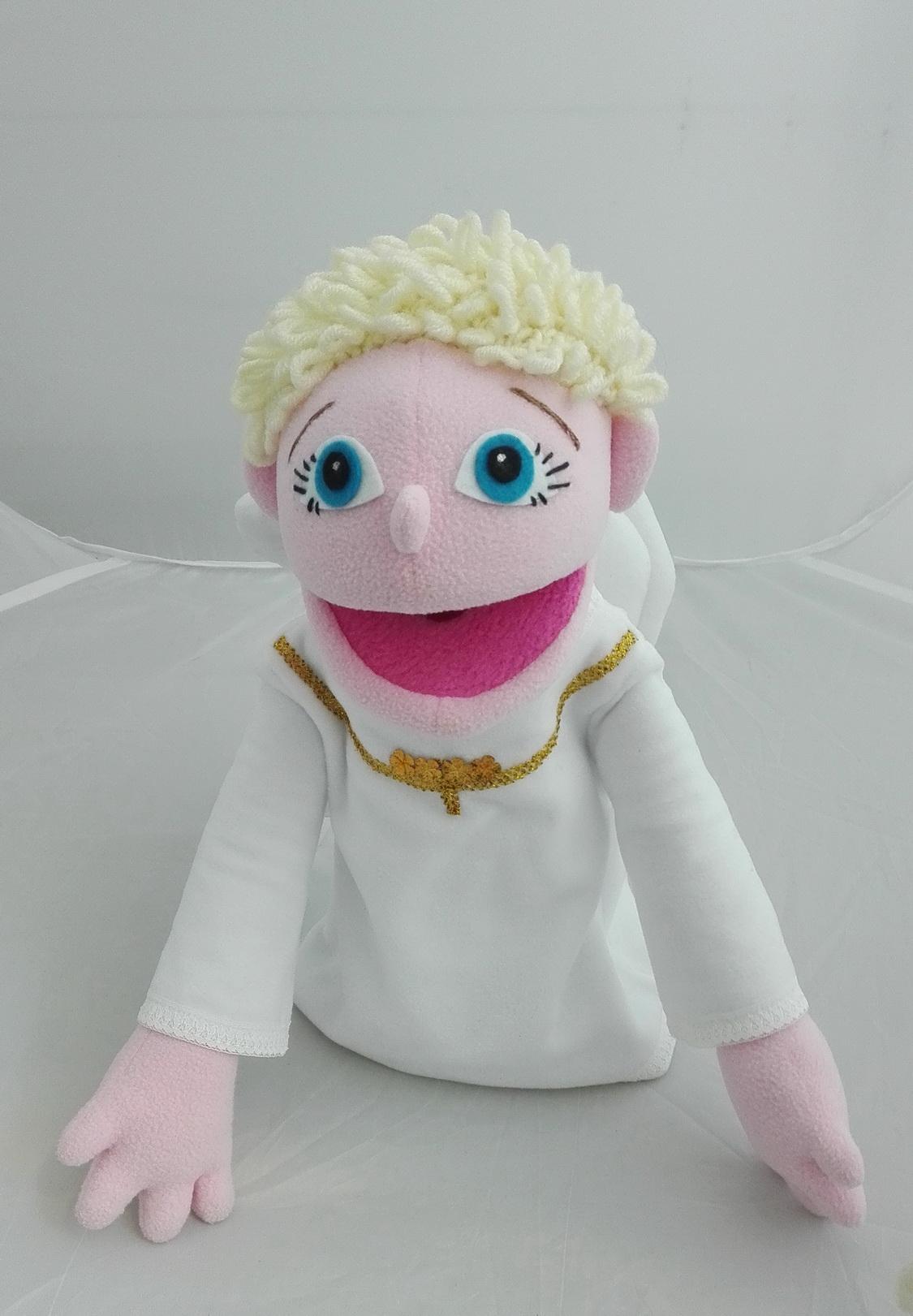 Ангел кукла с открывающимся ртом для кукольного театра