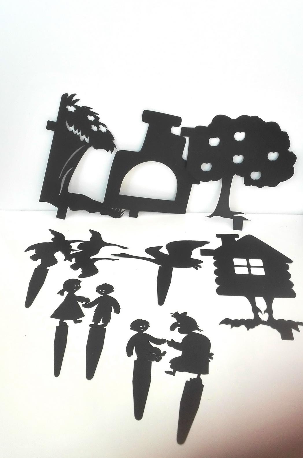 Гуси - лебеди - набор для театра теней