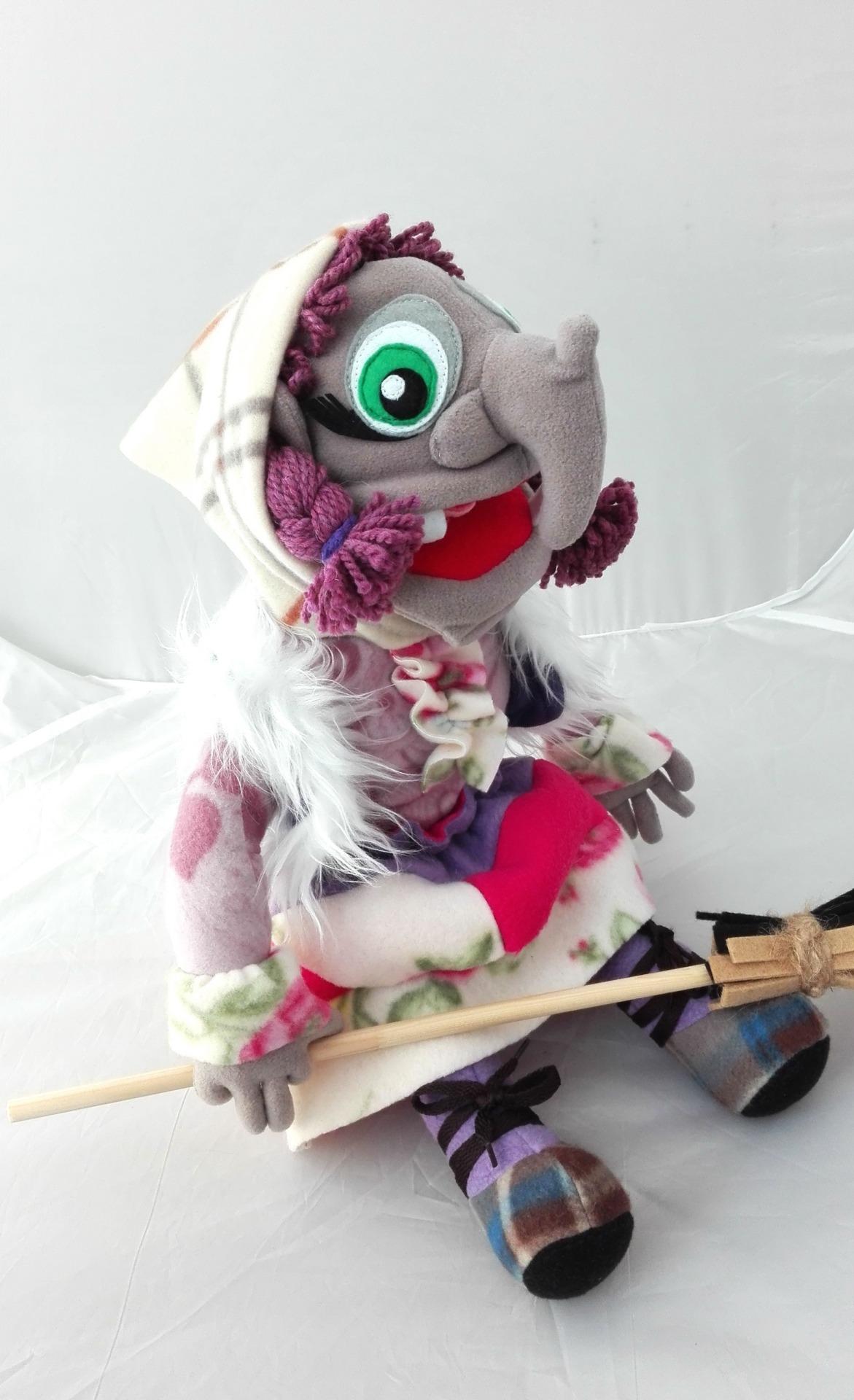 Баба-яга кукла театральная с открывающимся ртом
