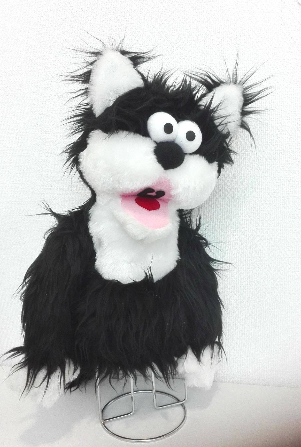 кукла с открывающимся ртом кот мохнатый