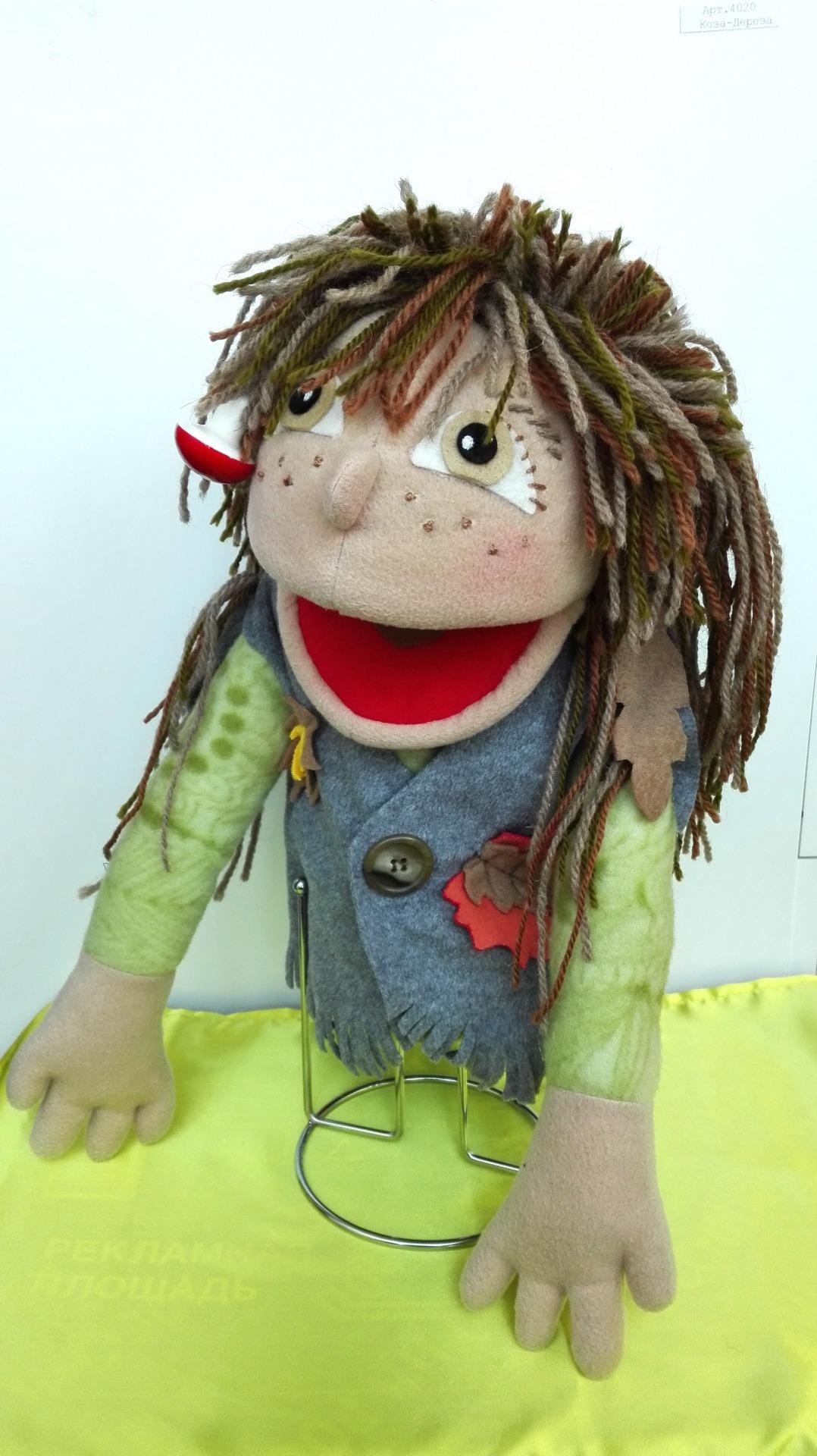 Леший кукла с открывающимся ртом для кукольного театра