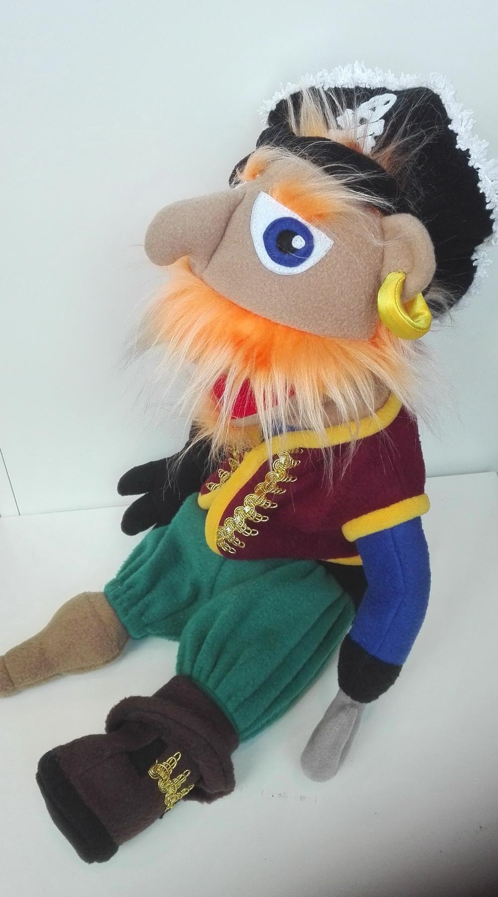 Кукла маппет с открывающимся ртом пират