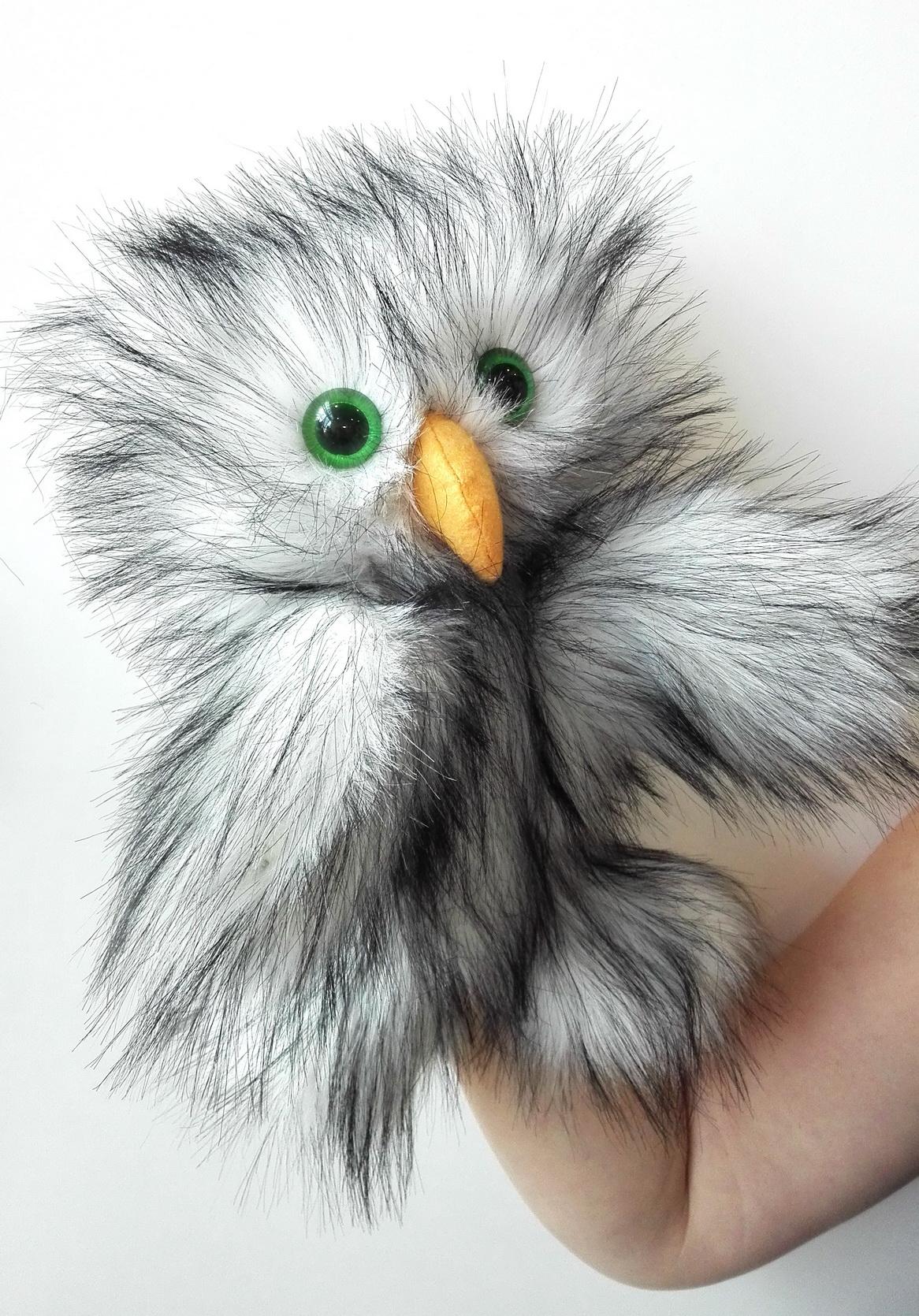 Сова кукла-перчатка для кукольного театра
