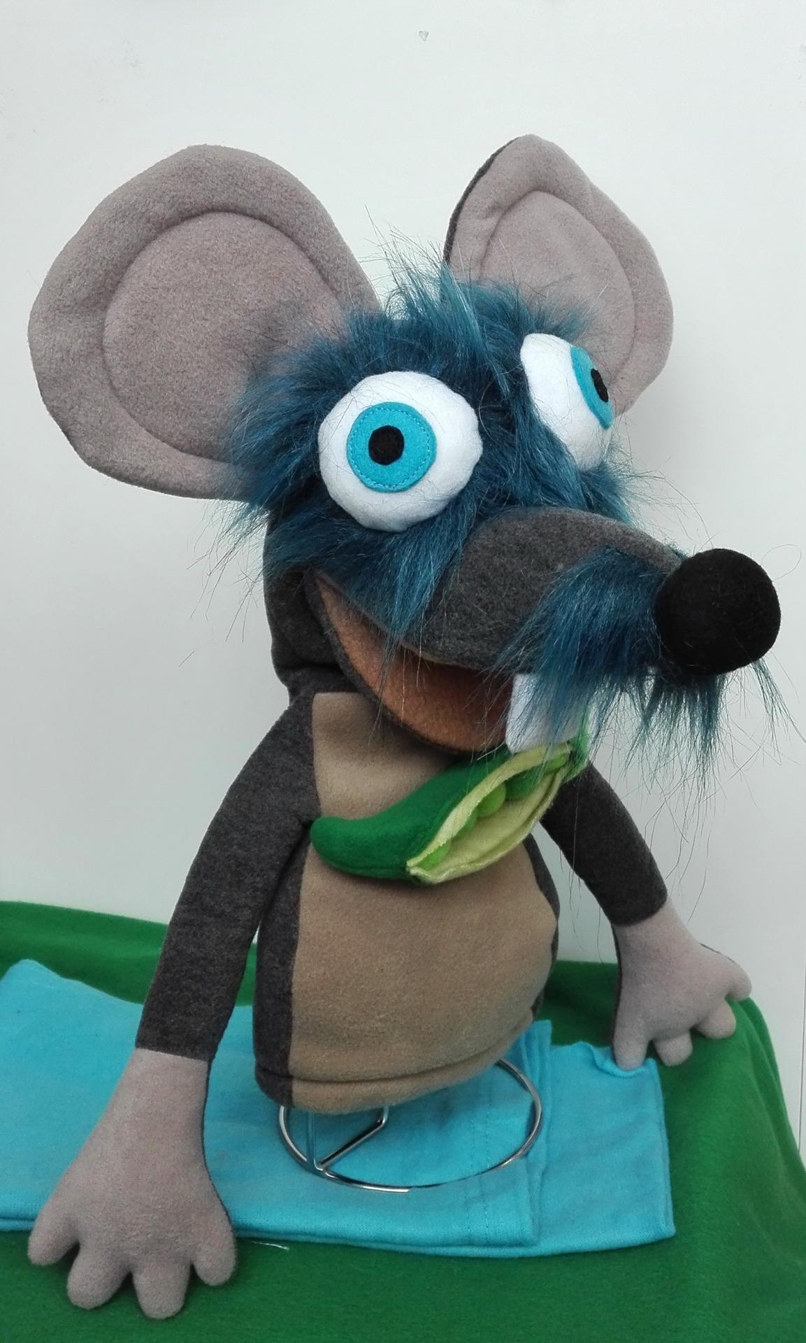 Кукла мышонок с открывающимся ртом