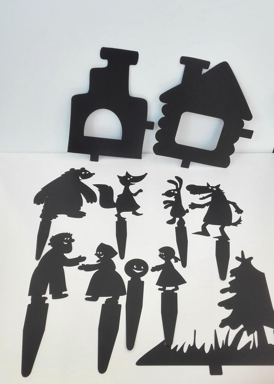Колобок - набор для теневого театра