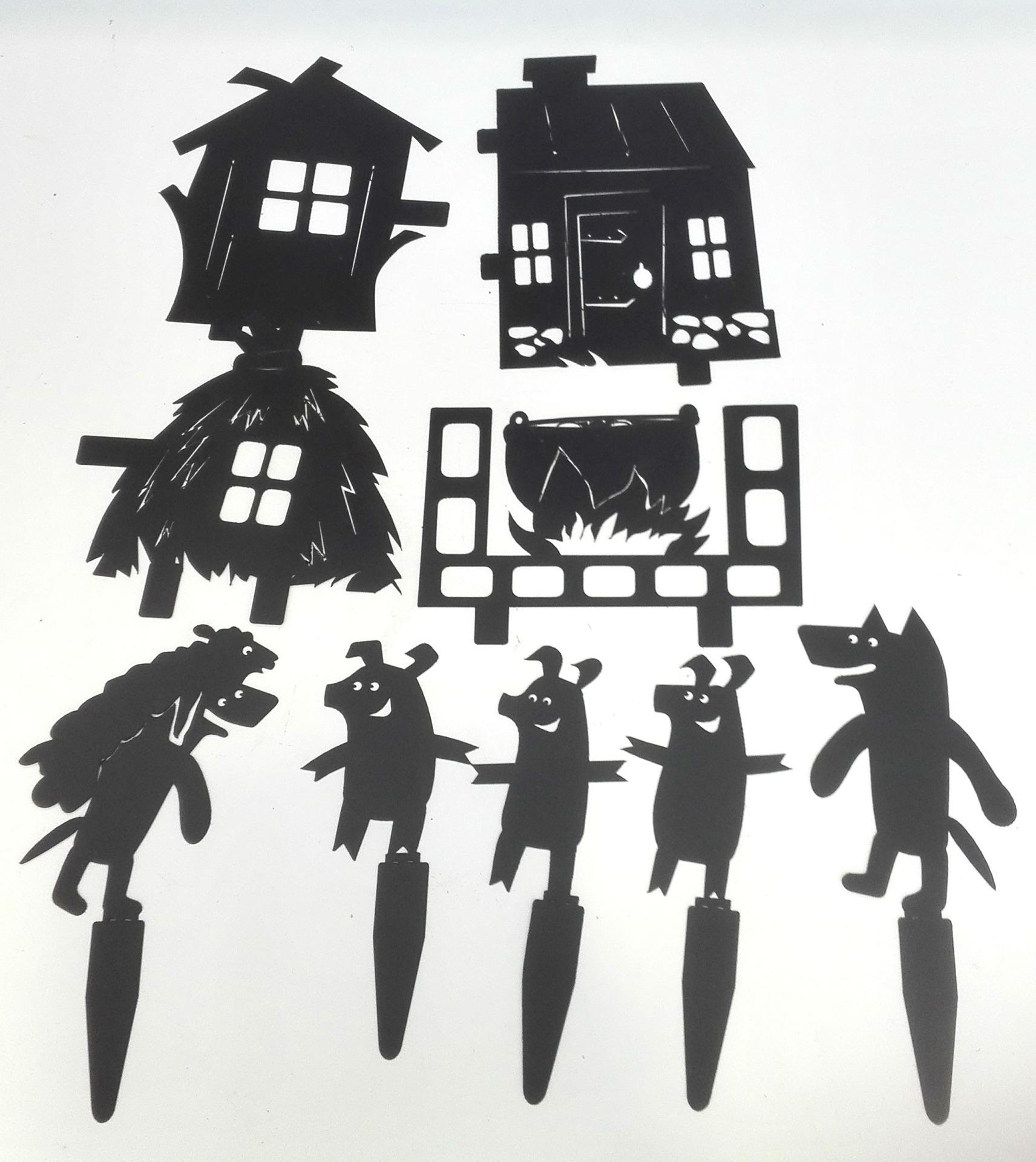 три поросенка - набор для театра теней